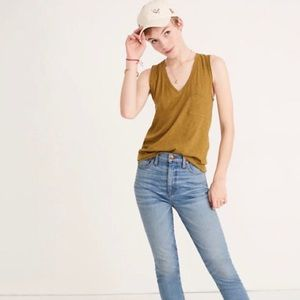 Madewell Mustard Whisper Cotton Tank Top